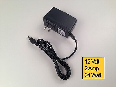 AC DC 12V 2A Power Supply Converter Adapter Slim Type Plug for LED Lot