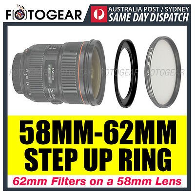 Step Up Ring 58-62mm Filter Lens Adapter 58mm-62mm AUSPOST