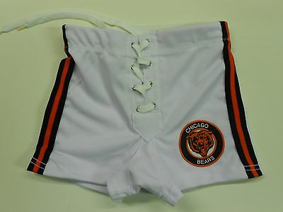 NOS '80's Spanjian Chicago Bears Football Shorts Size Boys Small USA Rare!