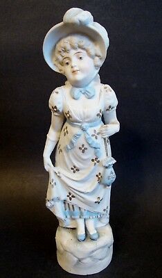 """Bisque Porcelain Figurine *Young Lady* - 11 3/8""""H (7172)"""