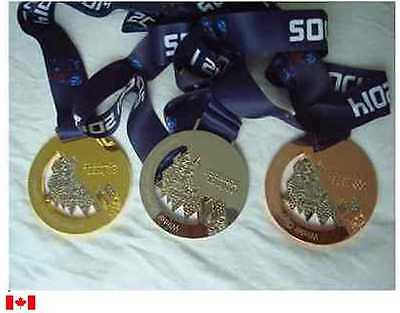 Russia Sochi 2014 Olympic Medal Set with Silk Ribbons & Display Stands !!!
