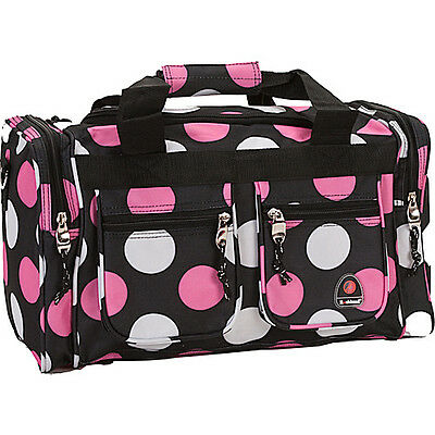 """Rockland Luggage Freestyle 19"""" Tote Bag - MultiPink Dot Travel Duffel NEW"""