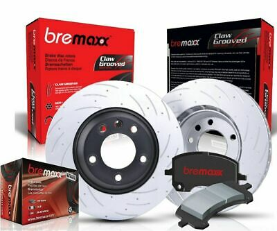 BREMAXX SLOTTED FRONT DISC BRAKE ROTORS x 2 & PADS COMMODORE VT VX VU VY VZ NEW