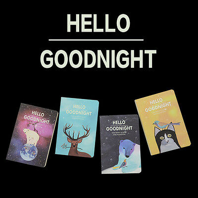 1pc Korean Stationery HELLO GOODNIGHT Notebook Diary Book Drawing Kids gifts
