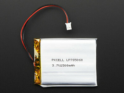Lithium Ion Polymer 3.7v Rechargeable Battery 2500mAh Electronic Project Arduino
