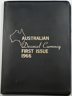 1966 Australian Mint Decimal Currency First Issue Set 6 UNC Coins in Black Case