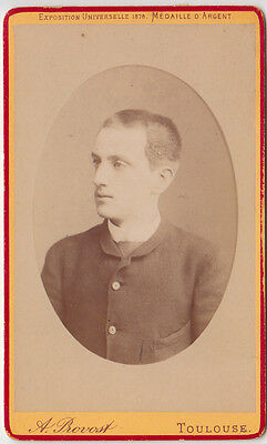 Cdv 1880 C.a. Gentiluomo  In Posa By Provost Toulouse  -F 1692