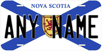 Nova Scotia Flag Canada Any Name Novelty Car License Plate
