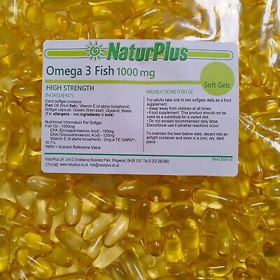 Omega 3 Fish Oil 1000mg - 365 Capsules (GRIP SEAL BAG) - NaturPlus