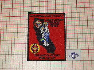 Knights Of Columbus - California State Council, State Deputy 2001-2002 Patch