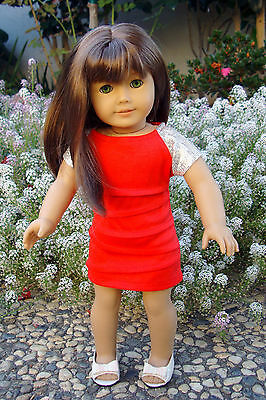 Red Sparkly Sequin Doll Dress Fits American Girl & 18 Inch Dolls HOLIDAY SPECIAL