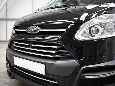 Chrome Stainless Steel 5pc Front Grille Surround Ford Transit Custom (2013 on)