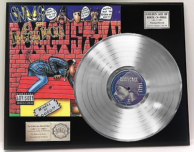 Snoop Dogg Doggie Style Ltd Edition Platinum Lp Record Display Free Shipping