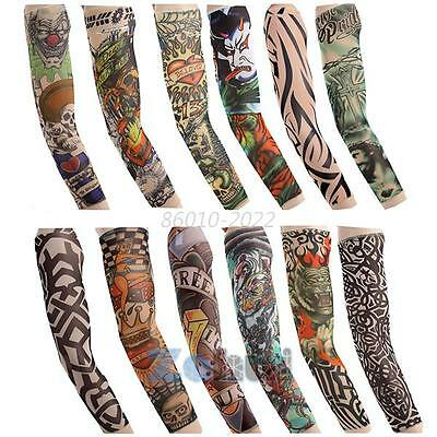 Bicycle Golf Outdoor Sports Sun Protection Tattoo UV Block Arm Sleeves Cover Hot