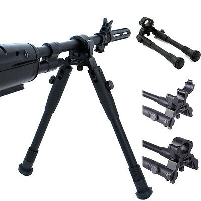 "8""-10"" Clamp-on Barrel-Mount Folding Bipod Spring Return Rest  Rifle Hunting"