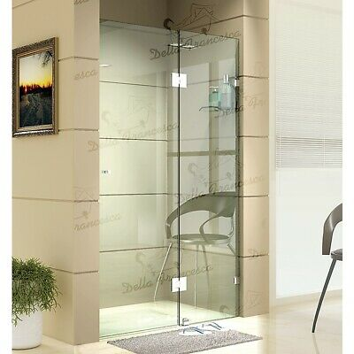 1200 x 2000mm Wall to Wall Frameless Shower Screen 10mm Glass By Della Francesca