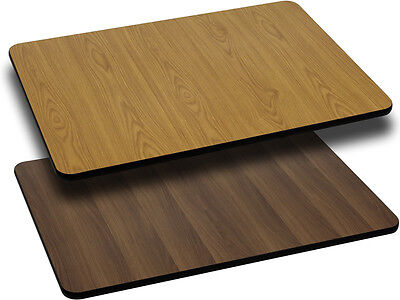 Flash Furniture 30'' x 48'' Rectangular Table Top with Natural or Walnut...