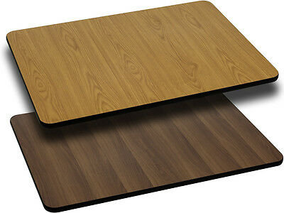 Flash Furniture 24'' x 30'' Rectangular Table Top with Natural or Walnut...