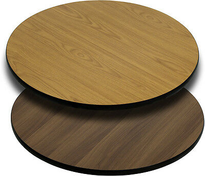 Flash Furniture 36'' Round Table Top with Natural or Walnut Reversible...