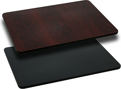 Flash Furniture 30'' x 48'' Rectangular Table Top with Black or Mahogany...