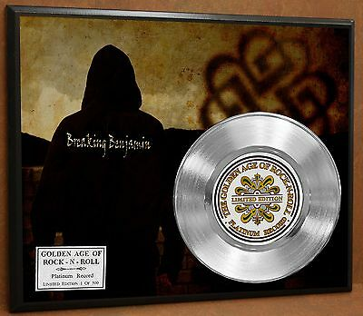 Breaking Benjamin Limited Edition Platinum Record Poster Art Memorabilia Display