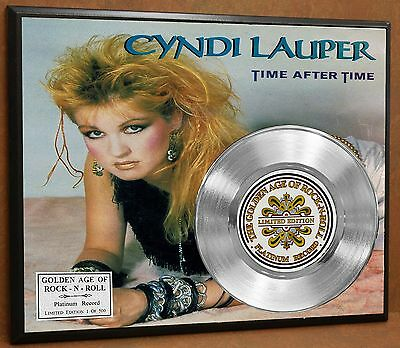 Cyndi Lauper Limited Edition Platinum Record Poster Art Memorabilia Display