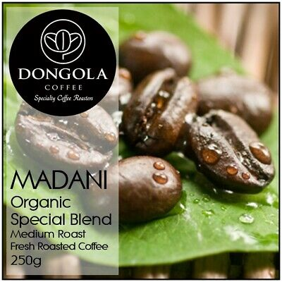 250g DONGOLA MADANI Organic Fresh Roasted Coffee Special Blend Whole Bean