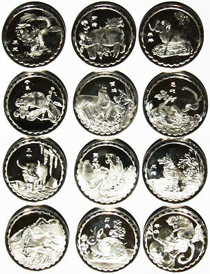 LOT 1/2oz Ounce REAL SILVER 999 FINE CLAD COIN RARE Chinese Zodiac Year Troy gm