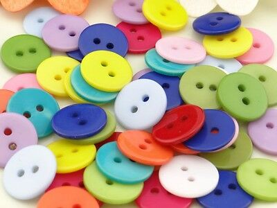 100PC Mix New Round 12mm 2holes Resin Button/Sewing lots Free shipping NK200