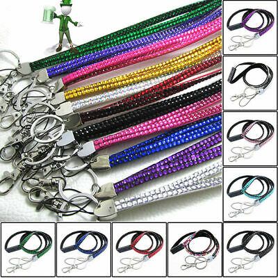 Diamante Rhinestone Crystal  Lanyard & ID Holder, Key Ring, Cell Phone Holder