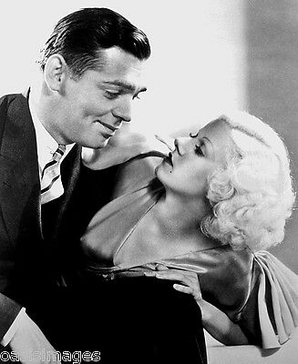 CLARK GABLE JEAN HARLOW Glossy Photo print A4 or A5 size