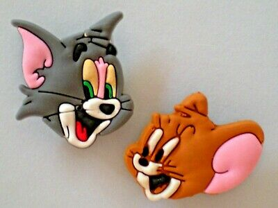 Shoe Button Plug Charm Fit Jibbitz Wristband Tom And Jerry  Compatible w/ Crocs