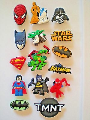 Jibbitz Croc Clog Shoe Charm Accessories Batman Superman Star Wars Super Heros