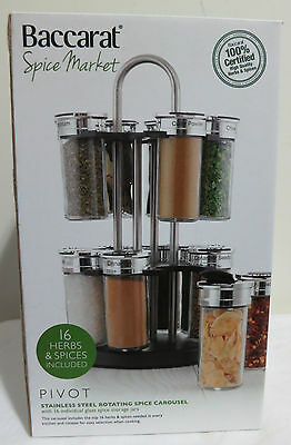 Baccarat 'Pivot' Stainless Steel Rotating Spice + 16 herbs/spices included