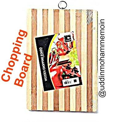 Wooden Large Chopping Board Kitchen Slicing Cutting Food Wooden Bamboo