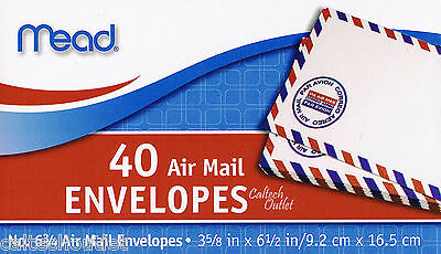 """40 Airmail Letter Mailing Envelopes All Purpose Shipping 3-5/8"""" x 6-1/2"""""""