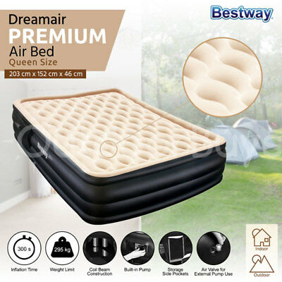 Bestway Inflatable Queen Air Bed | Dreamair Luxury Mattress with Built-In Pump
