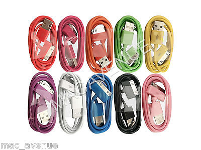 CABLE COULEUR USB CHARGEUR RECHARGE SYNC iPHONE 3 3GS 4 4S IPAD 1 2 3 IPOD TOUCH