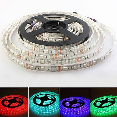 1-20M RGB 5050 SMD Waterproof LED Light Strip Flexible + IR Remote 12V Power Kit