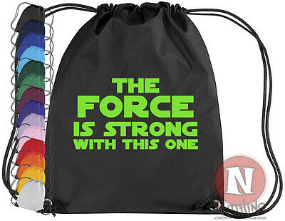 The Force is strong in this one gym bag - Sports kit PE school kids star wars