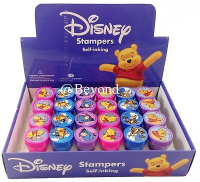 24PC Disney Winnie the Pooh Stampers Self-Inking Stamps Birthday Party Favors