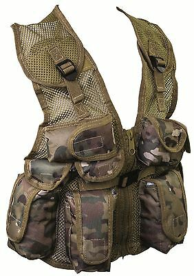 Kids PLCE Action Paintball assaut Vest Army Multicam match hmtc Camo SWAT