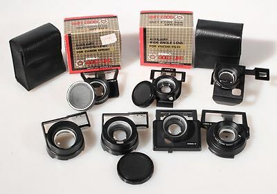 Telephoto,Wide Angle Lens Sets Canon Spirit, Vivitar Ps And Others, Group Of 7