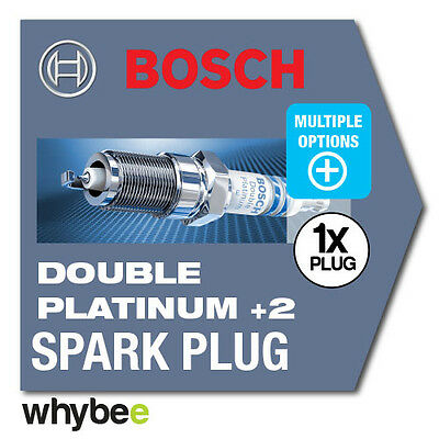 NEW! BOSCH 'DOUBLE PLATINUM+2' SPARK PLUGS for CARS - UPGRADE PERFORMANCE PLUGS