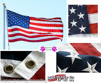 3x5 foot US AMERICA EMBROIDERED SEWN HEAVY DUTY 600D NYLON FLAG BANNER*USA MADE
