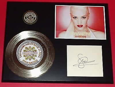 Gwen Stefani Gold Record Signature Series Limited Edition Display