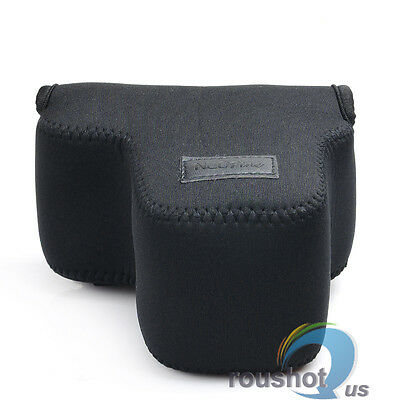 Neoprene Soft Case Pouch Bag For Sony NEX-6 7 5T A6000 Camera 18-55mm Lens Black