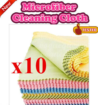 New 10Pcs Microfiber Phone Screen Camera Lens Glasses Cleaner Cleaning Cloth