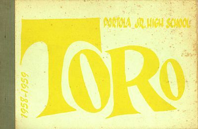 Portola Jr. High Yearbook 1958-1959 John Fogerty Creedence Clearwater Revival