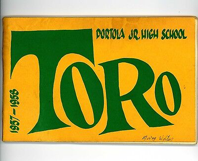 Portola Jr. High Yearbook 1957-1958 John Fogerty Creedence Clearwater Revival